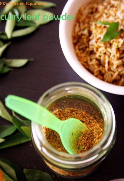 curry leaves powder (karivepaku podi)