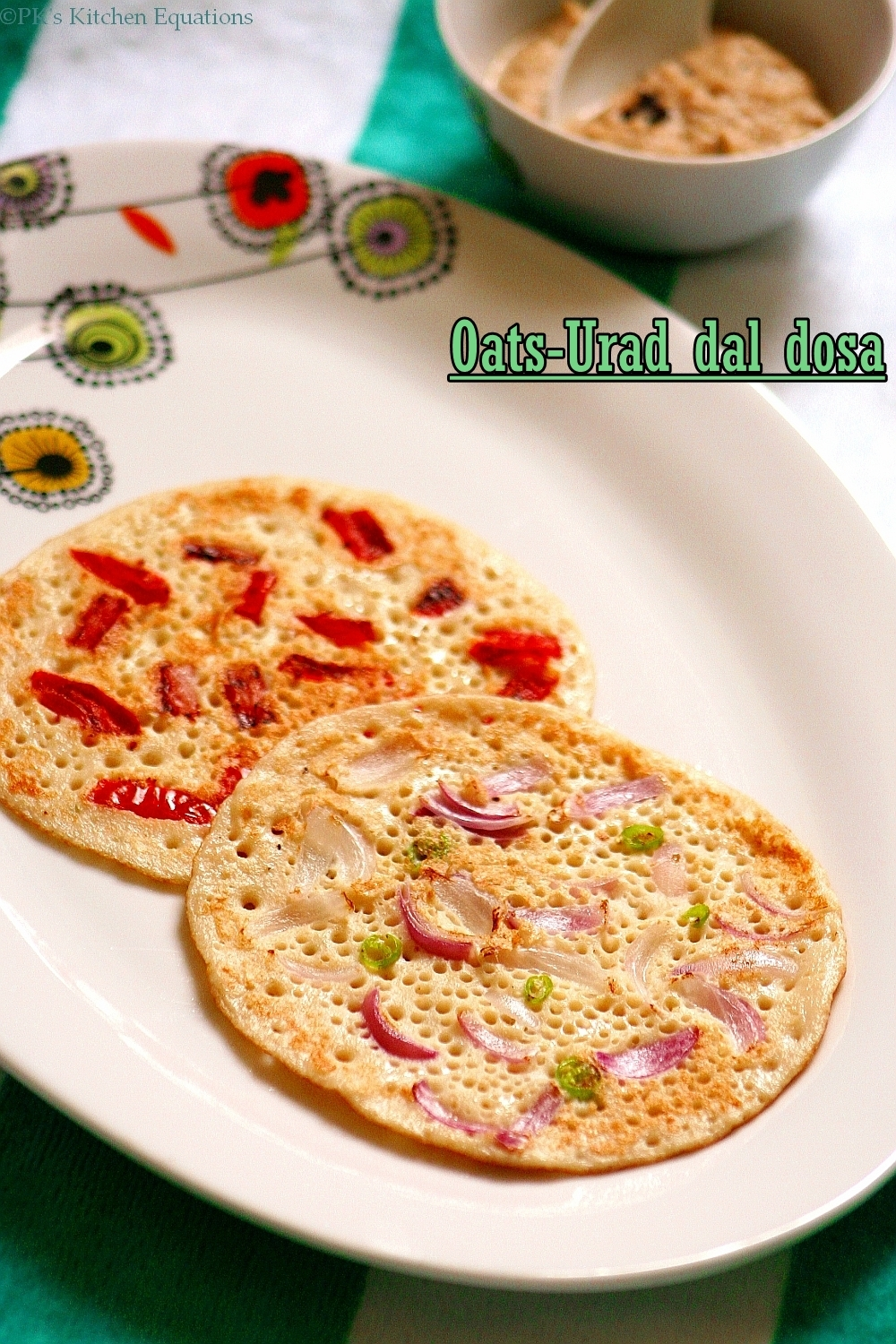 oats and urad dal dosa