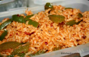Bell Pepper (Capsicum) rice