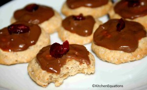 Eggless Butter cookies with Chocolate topping