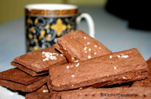 Eggless Bourbon Biscuits