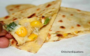 Corn and Cheese Quesadilla