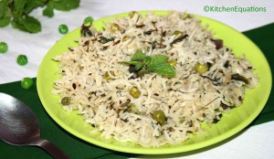 Peas Pulao recipe - mutter pulao