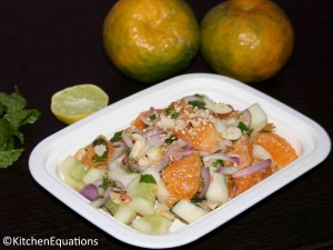 Minty Orange and Cucumber Salad with Nuts