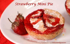 Strawberry Mini Pie (Whole Wheat)