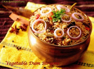 Vegetable Dum Biryani (Stove-top method/No-oven method)