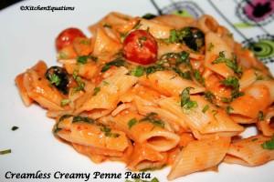 Creamless Creamy Penne Pasta