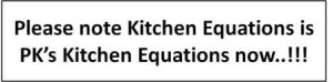 We are PK's Kitchen Equations now!!