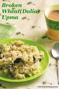 Healthy Broken Wheat Upma (Godhuma Rava or Lapsi Upma)