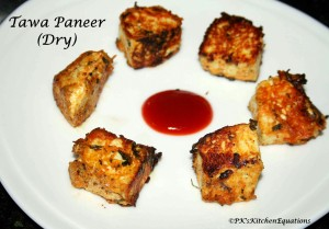 Dry Tawa Paneer (Pan-fried Cottage cheese)