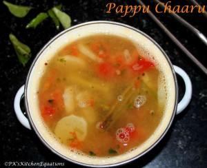 Andhra Pappu Chaaru (Mild Sambar/Indian Lentil Stew)