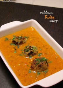 Cabbage Kofta Curry - with a healthy twist