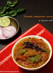 Easy Tomato Curry (Thakkali/Malabar curry using coconut milk)