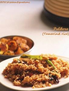 Tamarind rice (Chinthapandu Pulihora/Chitrannam )