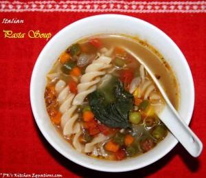 Pasta Soup/Italian Minestrone soup