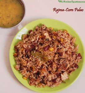 Rajma and Corn Pulao