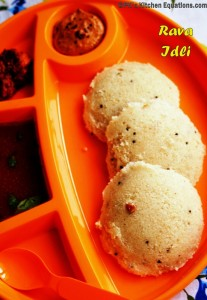 Quick Rava Idli (Instant idly recipe)