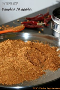 Easy homemade Sambar masala (Sambar powder)