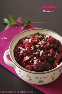 Beetroot Poriyal (Beetroot coconut curry)