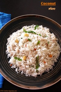 Coconut Rice or Thengai sadam - simple food recipe