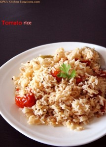 Easy Tomato rice - how to make tomato rice recipe