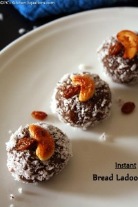 Instant Bread Ladoo - leftover bread recipe
