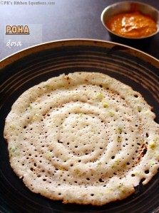 Poha dosa or atukula dosa recipe