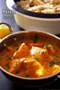 Potato kurma recipe or aloo kurma (restaurant style)