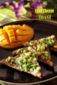 Chilli cheese toast - healthy breakfast recipe