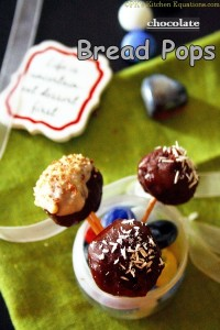 Instant Chocolate Bread Pops