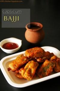 Capsicum Bajji recipe (Bell pepper fritters)