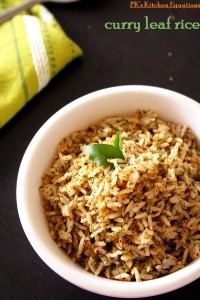 Curry leaves rice (karivepaku annam)