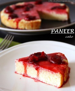 Paneer cake or chena cake (low fat cottage cheese cake)