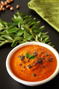 Groundnut and curry leaves chutney