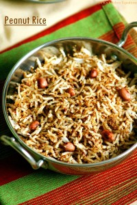 Peanut rice - easy lunch box recipe